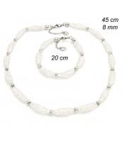 Oceľová súprava šperkov 231939