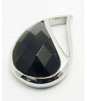 Čierny prívesok z ocele KVAPKA 233565C