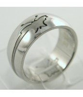 Oceľový prsteň MOTÝĽ 232632A