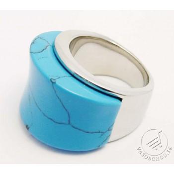 Oceľový prsteň Tyrkys 235305A