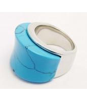 Oceľový prsteň Tyrkys - 235305A