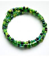 Zelený korálkový náramok - DR0596
