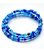 Modrý korálkový náramok - DR0595