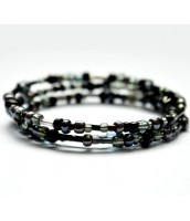 Čierny korálkový náramok - DR0585