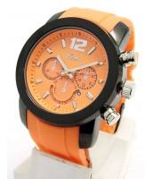 Oranžový plastový remienok na hodinky 24 mm