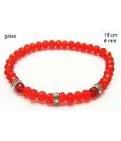 Červený korálkový náramok 238155D