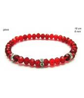 Červený korálkový náramok 238155F