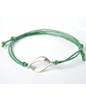 Darček na výber od 25 € - zelený šnúrkový náramok