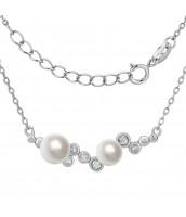 Strieborný perlový náhrdelník ILUMIA - JJJN0972