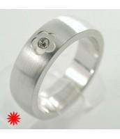 Oceľový prsteň so zirkónom 232662B