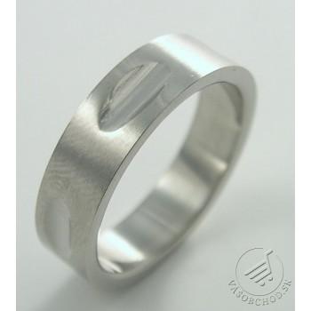 Oceľový prsteň so vzorom - 232714B