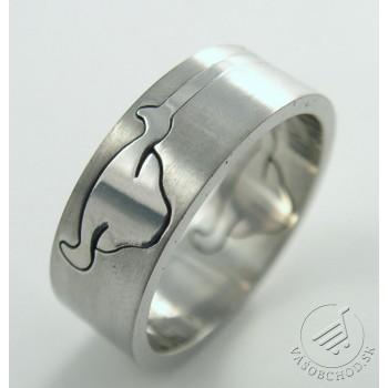 Oceľový prsteň byvol 232740B