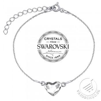 db31f9eb9 Strieborný náramok so Swarovski® Crystals srdce číre - VSW061CB ...