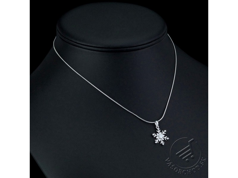 4fc33ebd5 ... Strieborná súprava šperkov so zirkónmi snehové vločky - JJJS0813C ...