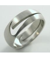 Prsteň z ocele NIKE - matný - 232242B