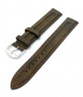 Hnedý kožený remienok 18 a 20 mm - na hodinky