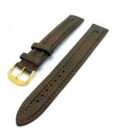 Pravý kožený remienok 18 a 20 mm - hnedý