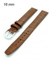 Hnedý kožený temienok na hodinky 16 mm