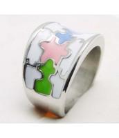 Prsteň z ocele s farebným smaltom 233773A