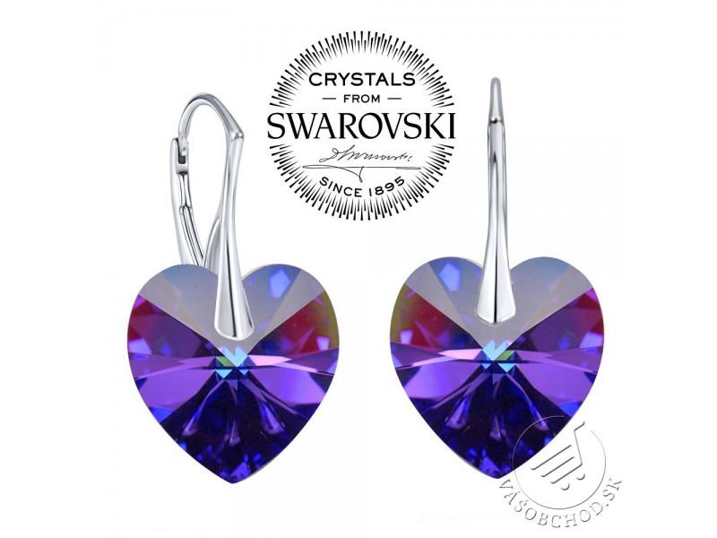 9ca67571d Strieborné náušnice Srdce 14mm Crystal Heliotrope so Swarovski® Crystals -  LSW007E ...