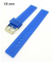 Remienok 18 mm - silikónový - modrý