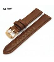 Hnedý kožený remienok na hodinky šírka 18 mm - pravá koža