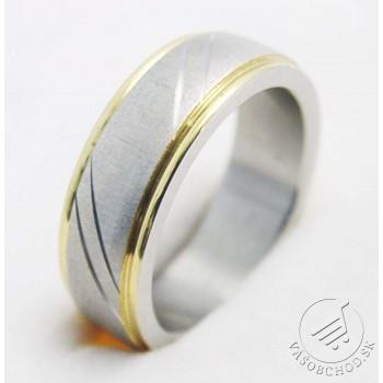 Oceľový prsteň EXEED 233421A - bi-color