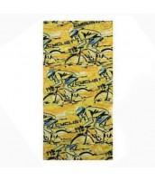 Žltá mulitfunkčná šatka YORO cyclist