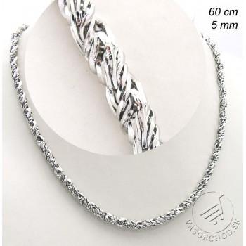 Oceľová retiazka Twist 60cm 239371A