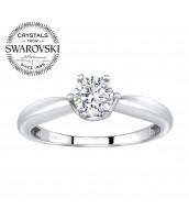 Strieborný prsteň so Swarovski® Zirconia - B25003 6073eb521d3