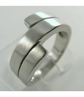 Oceľový prsteň, matný - 232454B
