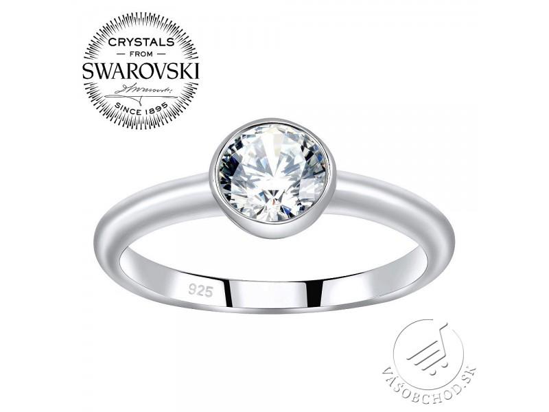 Strieborný prsteň ISADORA so Swarovski® Zirconia - JJJR1120SW ... 88153d6b639