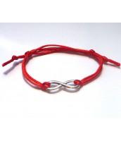 Červený šnúrkový náramok - nekonečno - Darček na výber od 25 €
