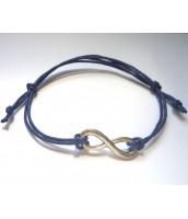 Modrý šnúrkový náramok s príveskom nekonečno - Darček na výber od 25 €