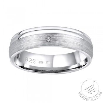Strieborný prsteň AMORA v prevedení so zirkónom pre ženy - QRALP130W