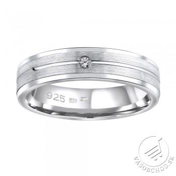 Strieborný prsteň AVERY v prevedení so zirkónom pre ženy - QRALP121W