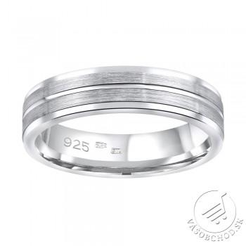 Strieborný prsteň AVERY v prevedení bez kameňa pre mužov aj ženy - QRALP121M