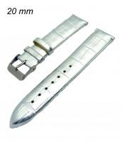 Remienok 20 mm - strieborný