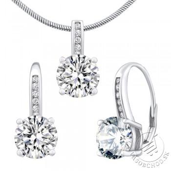 Strieborný set šperkov VERITY náušnice a prívesok - LPS1335ES