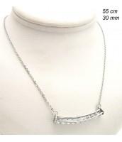Náhrdelník z ocele so zirkónmi 239384