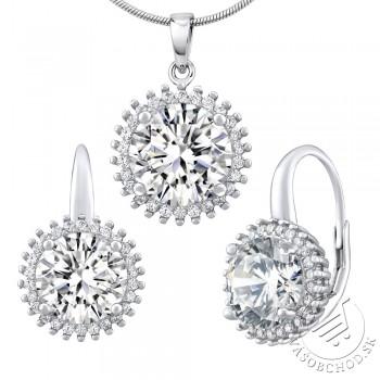 Strieborný set šperkov ANDROMEDA náušnice a prívesok - LPS1326W
