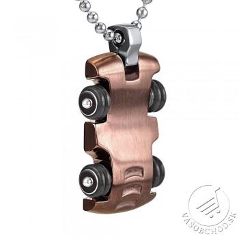 Oceľový náhrdelník - prívesok  AUTO s retiazkou pre mužov  - HMXP3550