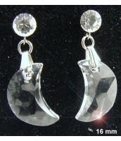 Náušnice z ocele s čírym krištáľom Swarovski Elements  290070B