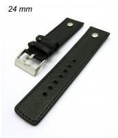 Čierny remienok 24 mm na hodinky