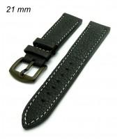 Čierny remienok šírka 21 mm na hodinky
