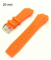 Oranžový kaučukový remienok 20 mm
