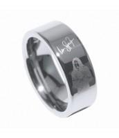 Wolfrámový prsteň MICHAEL JACKSON - MR04