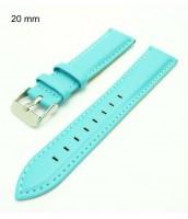 bledomodrý hodinkový remienok 20 mm