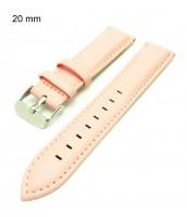 ružový remienok šírka 20 mm na hodinky