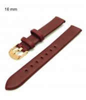 Kožený, bordový remienok na hodinky šírka 16 mm